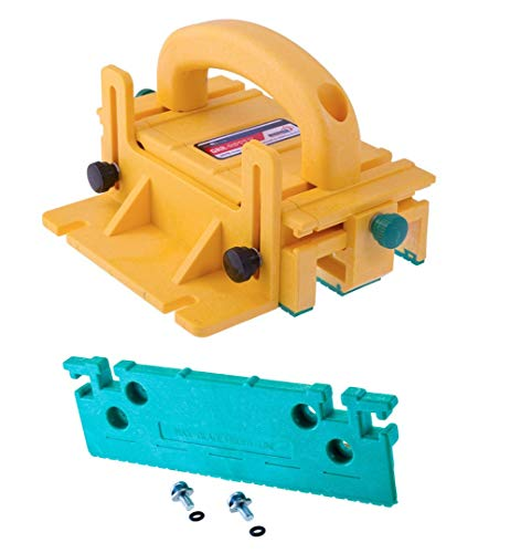 (MICROJIG GRR-RIPPER 3D Pushblock for Table Saws, Router Tables, Band Saws, and Jointers & 1/8-Inch Leg Accessory)