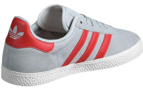 ... adidas Gazelle Junior Grise Et Rouge Gris 36 ...