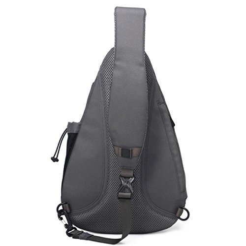 Students Leisure Bag Wild Messenger Men Backpack Chest Pockets Grey Fashion pqx1XA