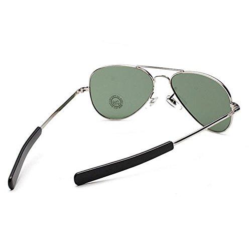 baïonnette Argent les force l'armée Pilote aviateur vert temples américain lunettes uv400 hommes air de WSWw7atU