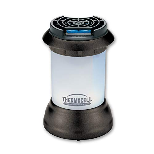 Thermacell Bristol Mosquito Repellent Patio Shield Lantern; Lantern Light Plus Silent, Scent-Free Mosquito Repellent Providing 15-Foot Zone of Protection; 100% Satisfaction Guarantee (Best Mosquito Repellent For Camping)