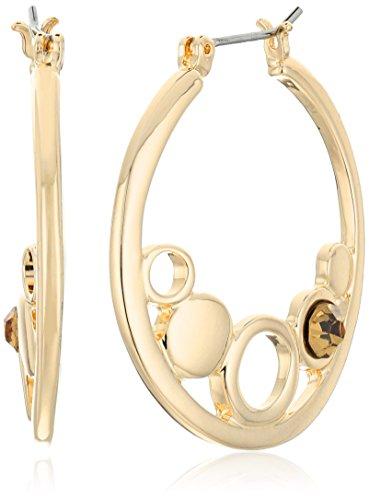 t-tahari-gold-with-light-colorado-stones-hoop-earrings
