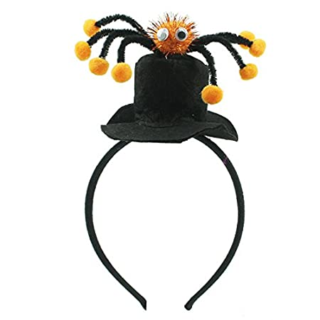 halloween headband with top hat and spider