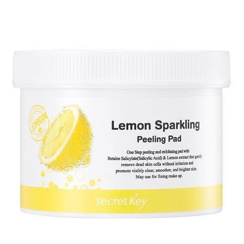 Secretkey Lemon sparkling peeling pad 70pads, 125ml