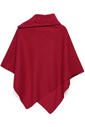 Cuello Red La Sueltos Cabos Asimétrico Casual Invierno Mujer Superior Poncho Polo Chales FFI6q