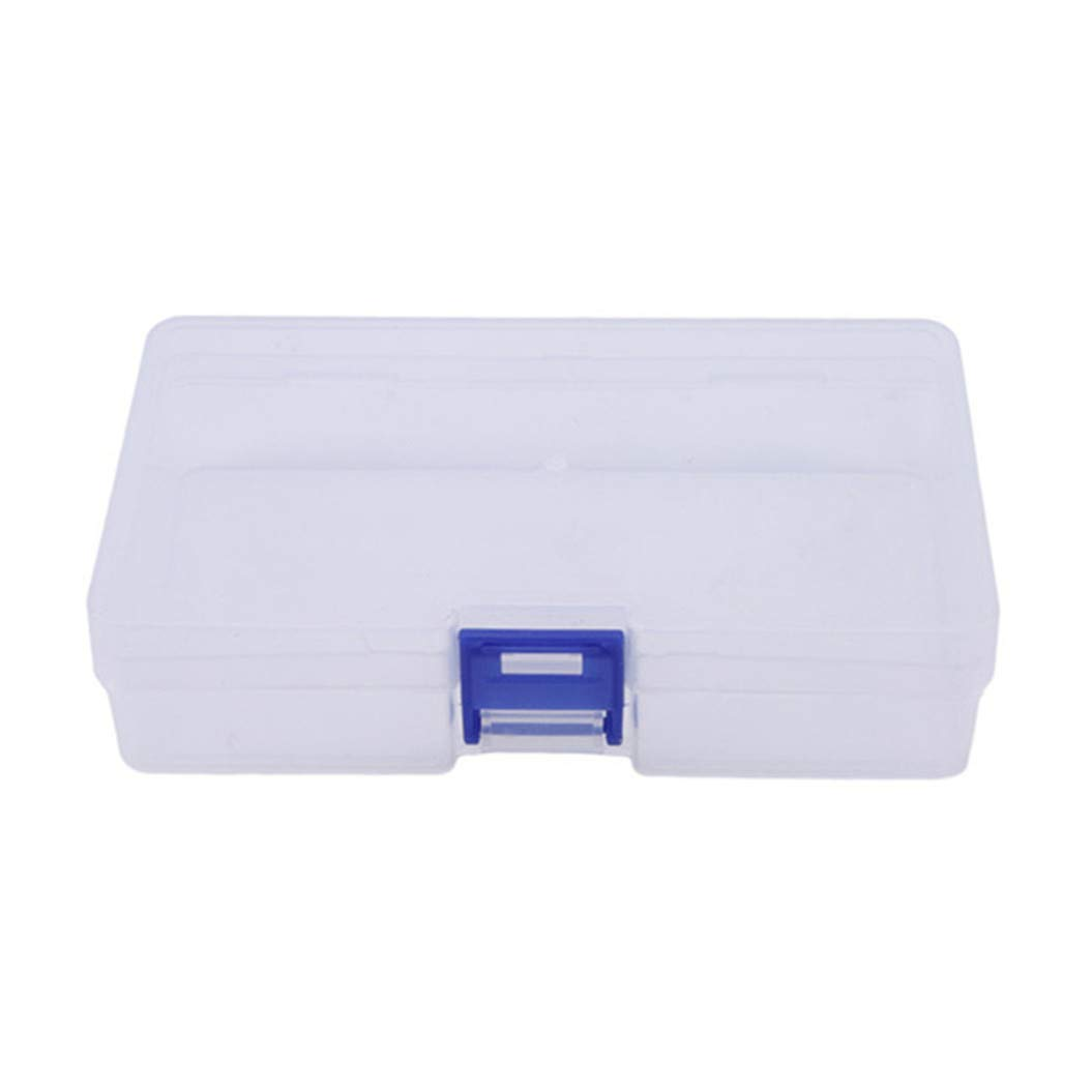 LZIYAN Rectangular Nail Storage Box Clear Transparent Nail Art Beads Organizer Display Box Container For Jewelry Rings,Blue buckle
