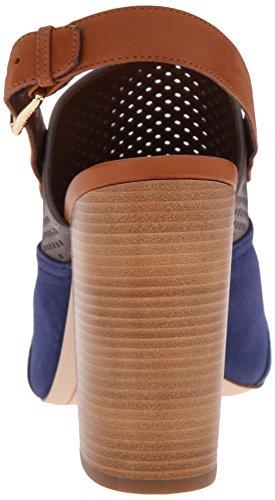 Cole Haan Donna Tabby Sandalo Alto Vestito Pompa Tempesta Nuvola Perforato / Twilight Blu Pelle Scamosciata / Profondo Lago Pelle Scamosciata / Ghianda