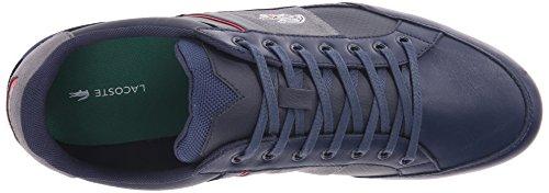 Lacoste Mens Chaymon 216 1 Fashion Sneaker Blu / Grigio Chiaro