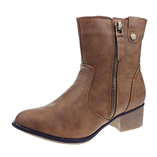 ceea4f0a5c19 well-wreapped Hawkwell Women s Fashion Stylish Zipper Boots - www ...