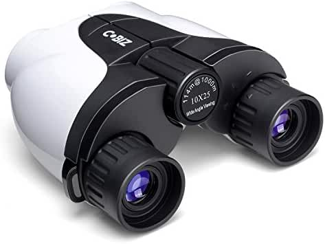 Kids Binoculars, Cobiz 10x25 Binocular Kids Outdoor Binoculars Folding Spotting Telescope For Bird Watching, Camping and Hunting