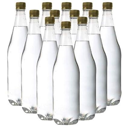 Pack of 24-1 Litre PET (Plastic) Clear Bottles