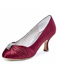 ElegantPark HC1526 Women Pumps Satin Wedding Evening Party Shoes