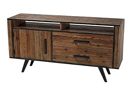 Gentil Eaton Reclaimed Fir Media Console Driftwood Brown Driftwood Tv Stand Wood  Entertainment Center 60 Inch Tv