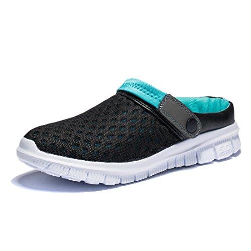 KENSBUY Unisex Summer Breathable Durable Mesh Shoes,Outdoor,Beach Aqua,Walking,Anti-Slip Slippers EU41 Black-Blue by KENSBUY
