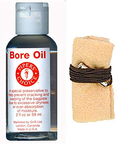 - Bore Oil & Pull Thru Swab for Bagpipes and Other Musical Instruments