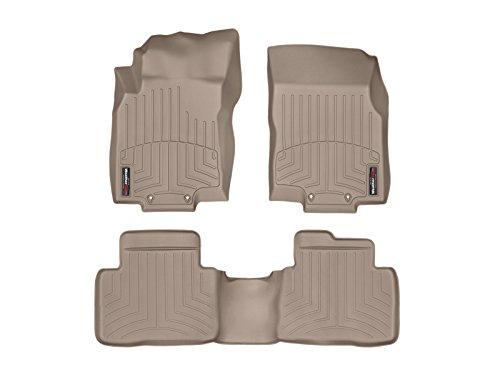 WeatherTech Custom Fit FloorLiner for Nissan Rogue - 1st & 2nd Row (Tan)