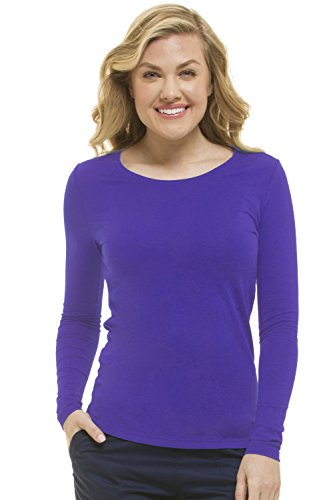 healing hands Scrubs Melissa 5047 Knit Long Sleeve Underscrub Tee Shirt- Purple Diva- ()