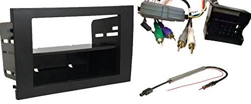 Car Stereo Wire Harness, Steering Control, Dash kit (Single and Double din) and Antenna Adapter for Installing a New Radio into an Audi A4, RS4 and S4 (2005-2008)
