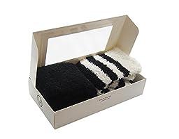 Cozy Plush Baby Legwarmer (Set Of 2 / Black & Stripes)