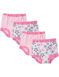 Little Girls' 4 Pack Training Pant