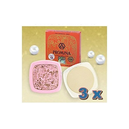 3 X Promina Ginseng Pure Pearl Face Cream Removal Freckle & Acne Dark Spot White 11g., Thailand.