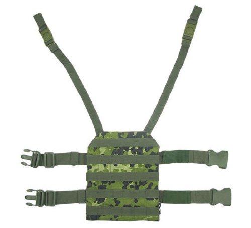 BE-X Beinplatte für modulare Taschen mit Schnelltrennsystem - dänisch tarn