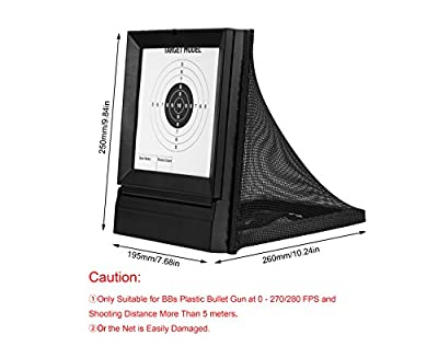 Ocean Loong Airsoft Square Net Paper Target with 20pcs Target Paper for Airsoft BB Gun Pellets Training Shooting BB Pellets Indoor or Outdoor,with The Net for Collecting The BBS & Pellets