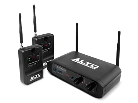 Alto Professional Stealth Wireless | Stereo Wireless System for Active Loudspeakers (Transmitter + 2 (Strumenti Filo)