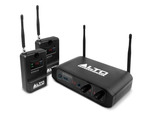 Alto Professional Stealth Wireless | Stereo Wireless System for Active Loudspeakers (Transmitter + 2 Receivers) by Alto Professional