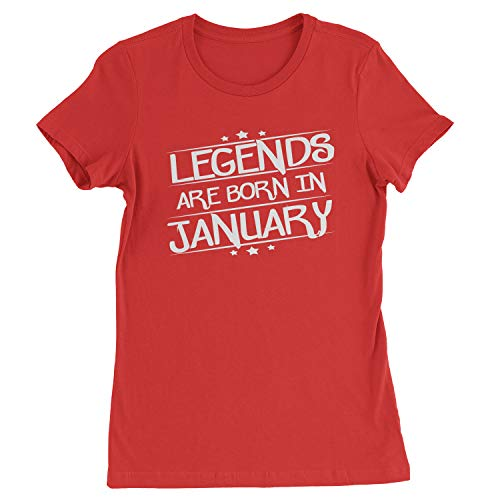 Legends Are Born Womens in January T-Shirt X-Large Red