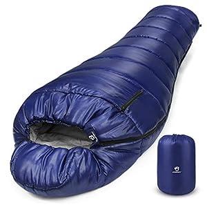 Bessport Sac de Couchage Momie | 250GSM | 15~20℃ | Portable à Qualité Résistant au Froid et Vent pour Randonnée et en…