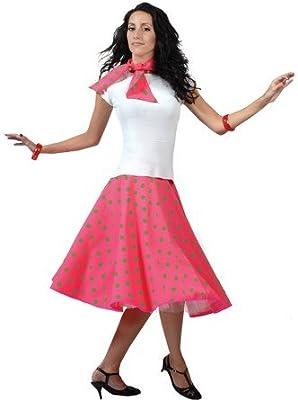 Rock Falda Rosa Verde Neon sin Petticoat 50 y 60 Sin Blusa Vestido ...