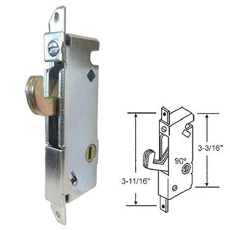 Sliding Glass Patio Door Lock, Mortise Type, 90 Degree