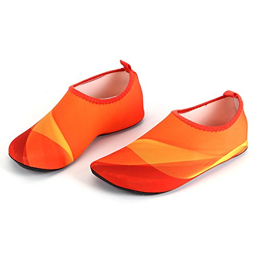 Barefoot Yoga Beach Aqua Unisex Water Swim Surf Kids Socks Skin Multi orange Shoes For Functional HYSENM wq7IPI