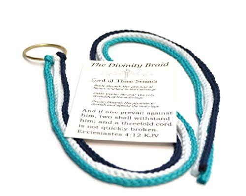 - Turquoise Navy Cord of Three Strands #DivinityBraid #CordOfThreeStrands