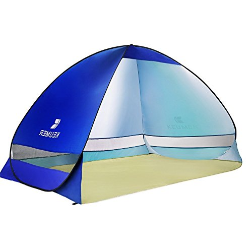 WloveTravel Automatic Pop Up Beach Tent Outdoor Portable Cabana Anti UV Shelter for Camping Fishing Hiking Picnicing (Dark blue)