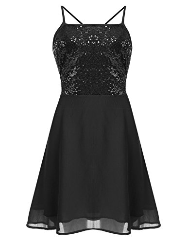 Women's Sexy Chiffon Evening Party Cocktail Sequins Mini Dress - 4