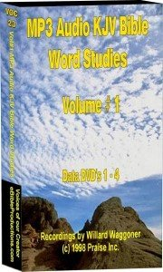 MP3 Audio KJV Word Concordance Studies - 1,400 hours - (16) data DVD disks by Voices of our Creator