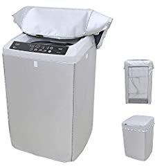 Silver Sunscreen Protective Washing Machine Cover For Home With Polyester Silver Coating Dustproof And WaterproofFeatures: Silver style: Silver coating on the polyester fabric, a ageing-resistant coatings, Have a good effect on reflecting sun...
