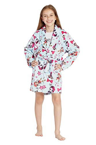 LOL Surprise! Excited Yet? Glam Girl Pajama Robe, Light Blue, L