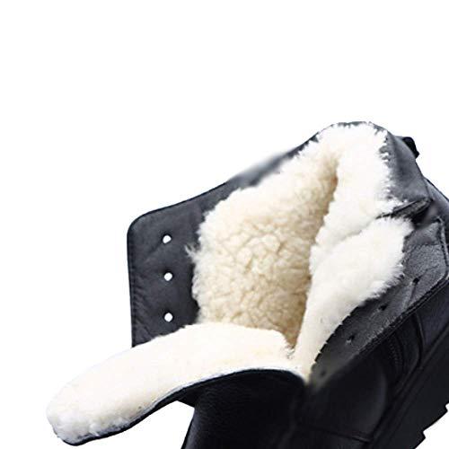 Mode Cuir Chaud L'usure Antidérapant Chaussons Résistant À Zqzq Black IwqdTExI