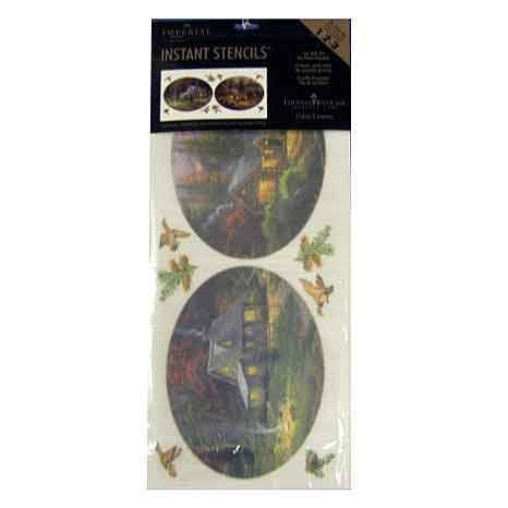 Thomas Kinkade Painter of Light - Instant Wall Stencils -...