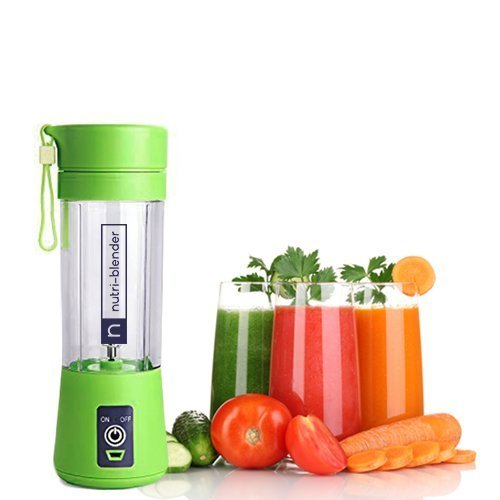 Nutri-Blender, USB Mini Juicer Blender Cup by Gevisco Brands. Fruit Smoothie Machine, Water Bottle 380ml, Portable and Rechargeable Personal Size Electric Mixer, USB Port Charger Cable