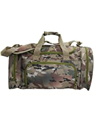 Digital Camo Duffel Travel Overnight Gym Bag Pocket for Shoes/Wet Items (Large)