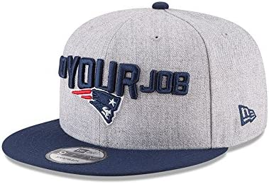 Amazon.com  New Era Authentic New England Patriots Heather Gray Navy 2018  NFL Draft Official On-Stage 9FIFTY Snapback Adjustable Hat  Sports    Outdoors 291ba1e5b