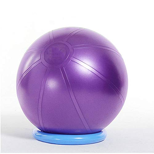 (WJL Anti-Burst Exercise Yoga Ball with Yoga, Pilates, Fitness, Physical Therapy, Gym and Home Workout, a Variety of Colors to Choose from (Color : Purple, Size : 26in))