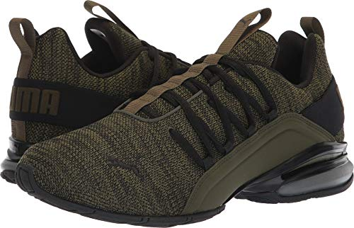 PUMA Men's Axelion Sneaker, Forest Night Black, 8 M US