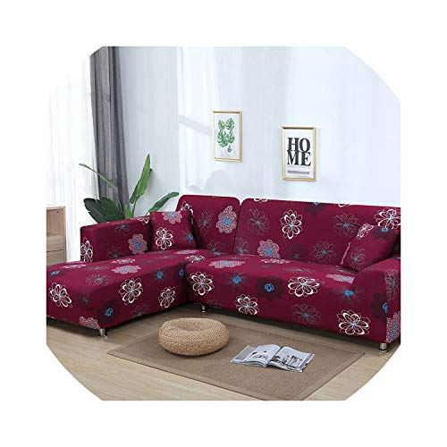 Slipcover Sofa Cover Tight Wrap All-Inclusive Stretch Sofa Covers for Living Room Washable Home Hotel Couch Cover Copridivano,Color 6,2Seater 145-185Cm