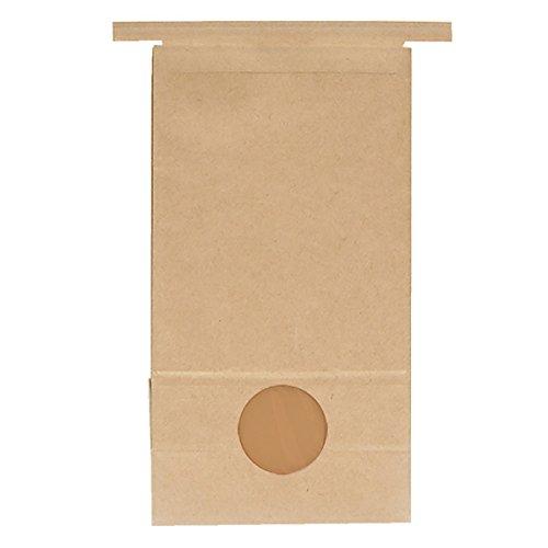 マルタカ クラフト 留具付クラフトSP 保湿タイプ 窓付 1kg用留具付き 1ケース(300枚入) KHS-812 B077GL6V41 1ケース(300枚入) 1kg用米袋
