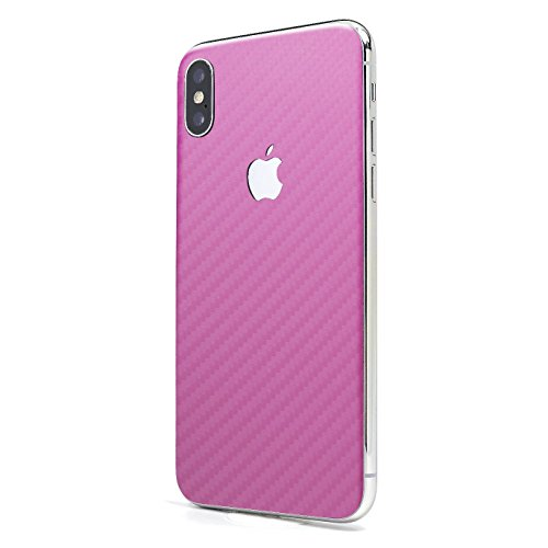 Pink Carbon Fiber iPhone X GLASS PROTECTION Wrap by SKINTZ Durable Protection - Glass Wrap